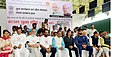 The Minister of State for Youth Affairs and Sports (IC), Water Resources, River Development and Ganga Rejuvenation, Shri Vijay Goel at the flag-off ceremony of the 7th Slum Yuva Daud, at Tughlaqabad Village Fort, in New Delhi.jpg