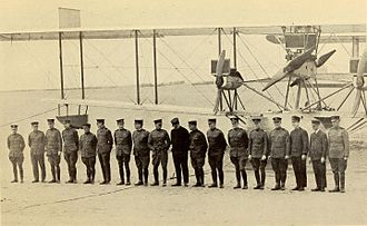 Curtiss NC-4 - Crews of the NC-4, NC-3 and NC-1 immediately before the departure of the first transatlantic flight