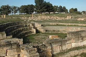 Bayda, Libya - The ruins of the ancient Greek city of Balagrae in Bayda.