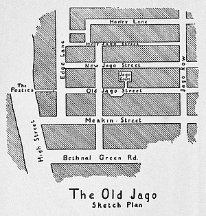 Arthur Morrison - A sketch of the Old Jago from the first American edition of A Child of the Jago, 1896
