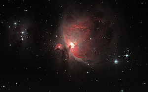 Iota Orionis - ι Orionis is the bright star to the right (south) of the Orion Nebula