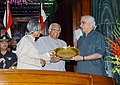 The President Dr. A.P.J. Abdul Kalam giving away the Outstanding Parliamentarian Award for the year 2001 to the Leader of Opposition in Rajya Sabha, Shri Jaswant Singh in New Delhi on March 21, 2005.jpg