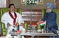 The President of Sri Lanka, Mr. Mahinda Rajapaksa meeting the Prime Minister, Dr. Manmohan Singh, in New Delhi on November 13, 2008 (1).jpg