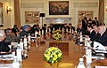 The Prime Minister, Dr. Manmohan Singh and the President of the Russian Federation, Mr. Dmitry A. Medvedev, at the delegation level talks, in New Delhi on December 21, 2010.jpg