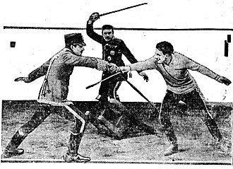 The Prisoner of Zenda (1922 film) - A scene from the film, as depicted in a contemporary newspaper.