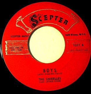 Boys (The Shirelles song) 1960 song by The Shirelles, later recorded by the Beatles
