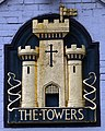 The Towers pub sign front of pub.jpg