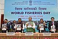 The Union Minister for Agriculture and Farmers Welfare, Shri Radha Mohan Singh releasing the publication, on the occasion of the World Fisheries Day 2016, in New Delhi.jpg