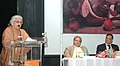 The Union Minister for Culture, Smt. Chandresh Kumari Katoch addressing at the inauguration of an exhibition 'Amrita Sher-Gil The Passionate Quest', in New Delhi on January 31, 2014.jpg
