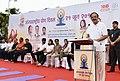 The Vice President, Shri M. Venkaiah Naidu addressing the gathering at the 4th International Day of Yoga 2018 celebrations, in Mumbai.JPG