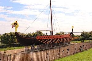 Cliffsend - Image: The Viking Ship 'Hugin' (Cliffs End)