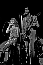 The Who playing live