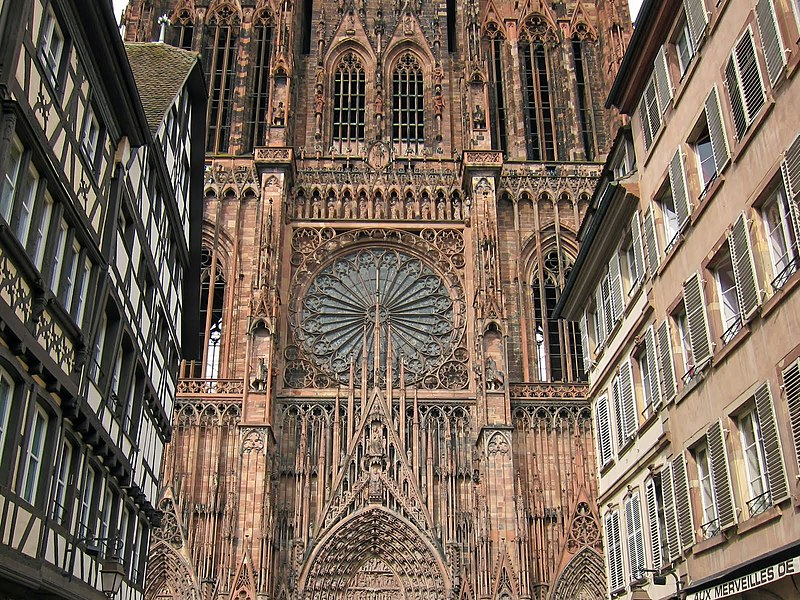 File the flamboyant facade of strasbourg 39 s for K architecture strasbourg