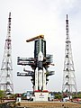 The fully integrated GSLV-Mk III-D1 carrying GSAT-19 at the second launch pad - front view.jpg