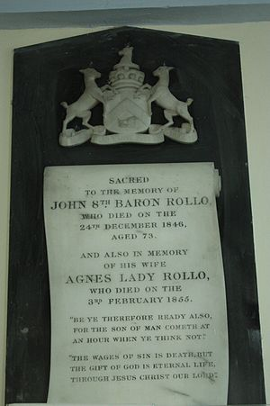 Lord Rollo - The grave of John 8th Lord Rollo, Dunning
