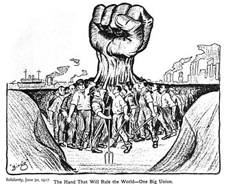 Raised fist - Image: The hand that will rule the world