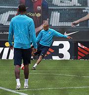 Training with Barça