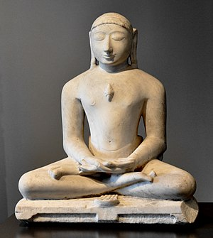 Sculpture in South Asia - Jain figure of tirthankara Suparshvanatha, 14th century, marble