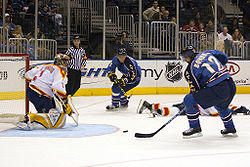 En match mellan Atlanta Thrashers och Florida Panthers i National Hockey League (NHL) 2005.