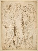 Three Standing Figures (recto); Seated Woman and a Male Hermit in Half-length (verso) MET DP812353.jpg
