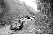 Three japanese Type 95 Ha-Go light tanks destroyed