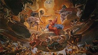 Alessandro Tiarini - Image: Tiarini Coronación de la Virgen det Basilica della Ghiara Reggio Emilia