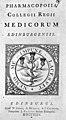 "Title page ""Pharmacopoeia Collegii Regii ..."", 1744 Wellcome M0011896EB.jpg"