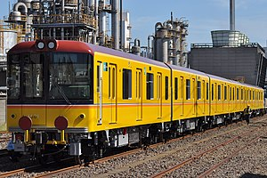Tokyo Metro 1000 series - The first set on delivery in September 2011