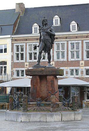 Limburg (Belgium) - Statue of Ambiorix in the main square of Tongeren.
