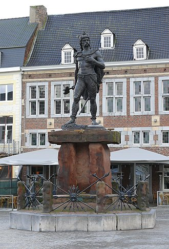 Limburg (Belgium) - Statue of Ambiorix in the main square of Tongeren.