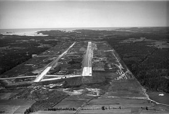 Sandefjord Airport, Torp - Torp during construction