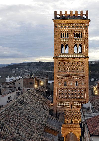 La torre de la iglesia del Salvador de Teruel
