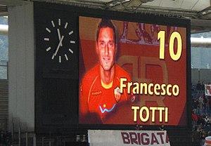 Francesco Totti's presentation in Stadio Olimp...