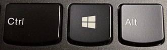 Windows key - The current version of the Windows key, as seen on keyboards from computers shipping with Windows 8.0, 8.1 and 10.