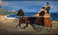 Toulouse-Lautrec - BUGGY AU BORD DE LA MER (verso de 58), 1881, MTL.59.jpg