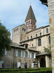 The abbey in Tournus