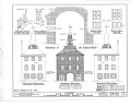 Town Hall, Second and Delaware Streets, New Castle, New Castle County, DE HABS DEL,2-NEWCA,2- (sheet 2 of 5).png