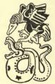 Tozzer 1910 Plate 19-11 Black vulture and snake.tif