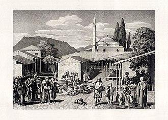 """Otto Magnus von Stackelberg (archaeologist) - Image from his """"Trachten und Gebräuche der Neugriechen"""""""