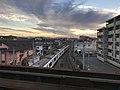 Train of Sasaguri Line from platform of Chojabaru Station (Kashii Line).jpg