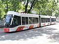 Tram 501 at J. Poska Stop Tallinn 5 June 2015.JPG