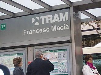Plaça de Francesc Macià, Barcelona - Trambaix station.