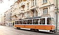 Tram in Sofia near Palace of Justice 2012 PD 015.jpg