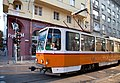 Tram in Sofia near Palace of Justice 2012 PD 047.jpg
