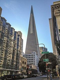 Transamerica Pyramid skyscraper in San Francisco, California, USA