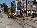 Travaux sur les lignes R et T du tramway de Lille - Roubaix - Tourcoing le 7 juillet 2013 (02).JPG