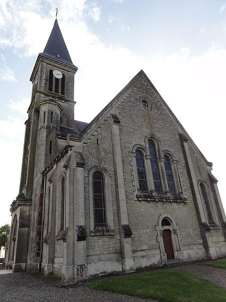 Travecy (Aisne) église