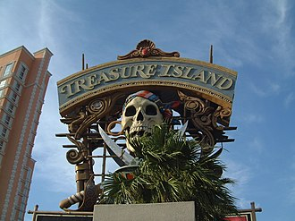 Treasure Island Hotel and Casino - Original pirate-themed sign
