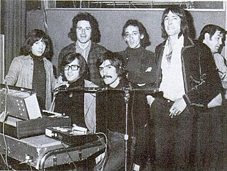 Rock en español - Triana in the recording studio in 1974.