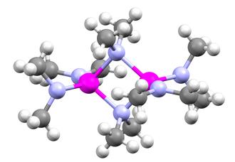 Metal amides - Image: Tris(dimethylamino)g allium dimer